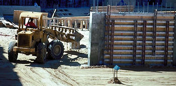 Photograph of a construction site.