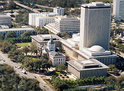 Photograph of Florida's state Capitol and Historic Capitol Buildings