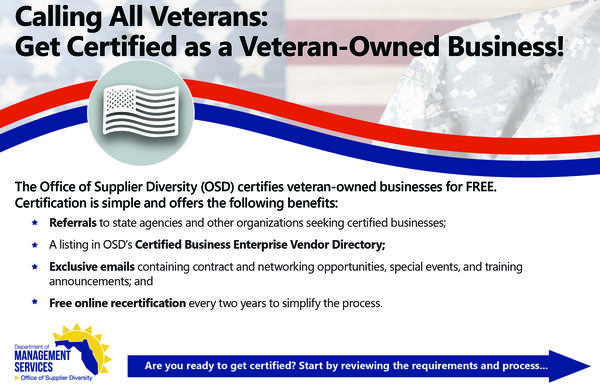 Veteran-Owned Small Businesses / Get Certified / Office of