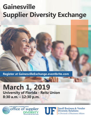 Supplier Diversity Exchange Gainesville 2019 Flyer